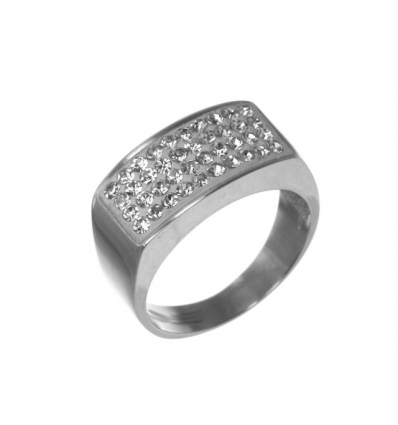 Strieborný prsteň so Swarovski elements crystal 79eaec831fa