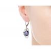 Strieborné náušnice zirkónové fialové