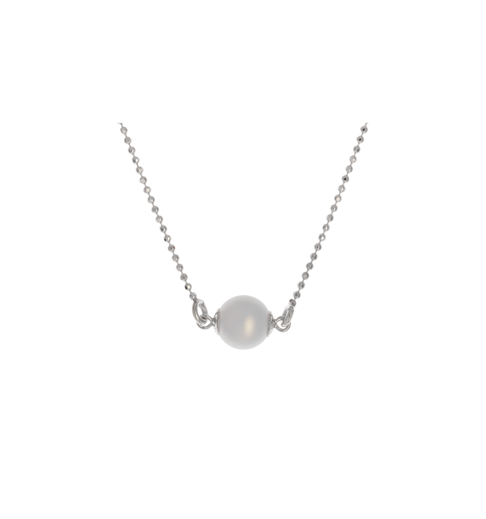 c3c3dc14c Strieborný náhrdelník perlový so Swarovski elements perla 44cm