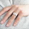Strieborný prsteň s ružovými opálmi