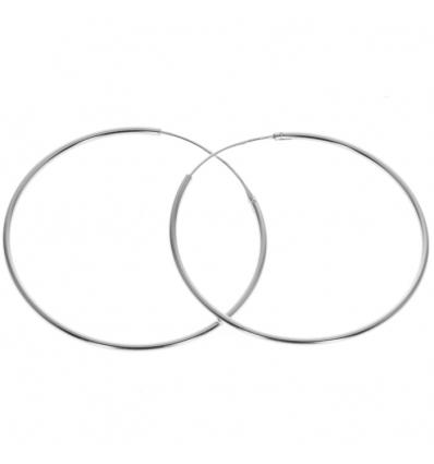 Strieborné náušnice kruhy 45mm