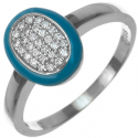 Strieborný prsteň so zirkónmi