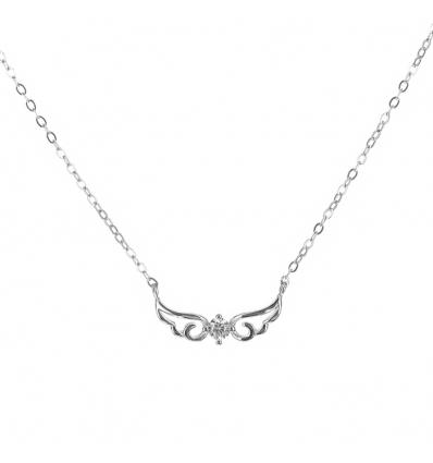 Strieborný náhrdelník anjelské krídla so zirkónom 45 až 48cm