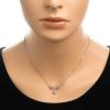 Strieborný náhrdelník s ružovými zirkónmi 42 až 44cm