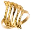 Strieborný pozlátený prsteň s gravírom