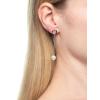 Strieborné retiazkové náušnice s perlou a so zirkónmi