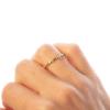 Strieborný pozlátený prsteň ruženec