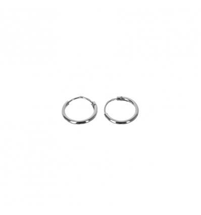 Strieborné náušnice kruhy 10 mm