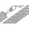 Strieborný náramok Lisovaná pletená 18,5 mm